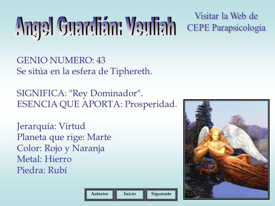 GENIO NUMERO: 43 Se sitúa en la esfera de Tiphereth.