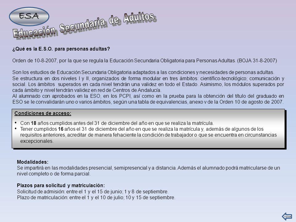 E.S.O.PARA PERSONAS ADULTAS EN DOS HERMANAS IES VIRGEN DE VALME.
