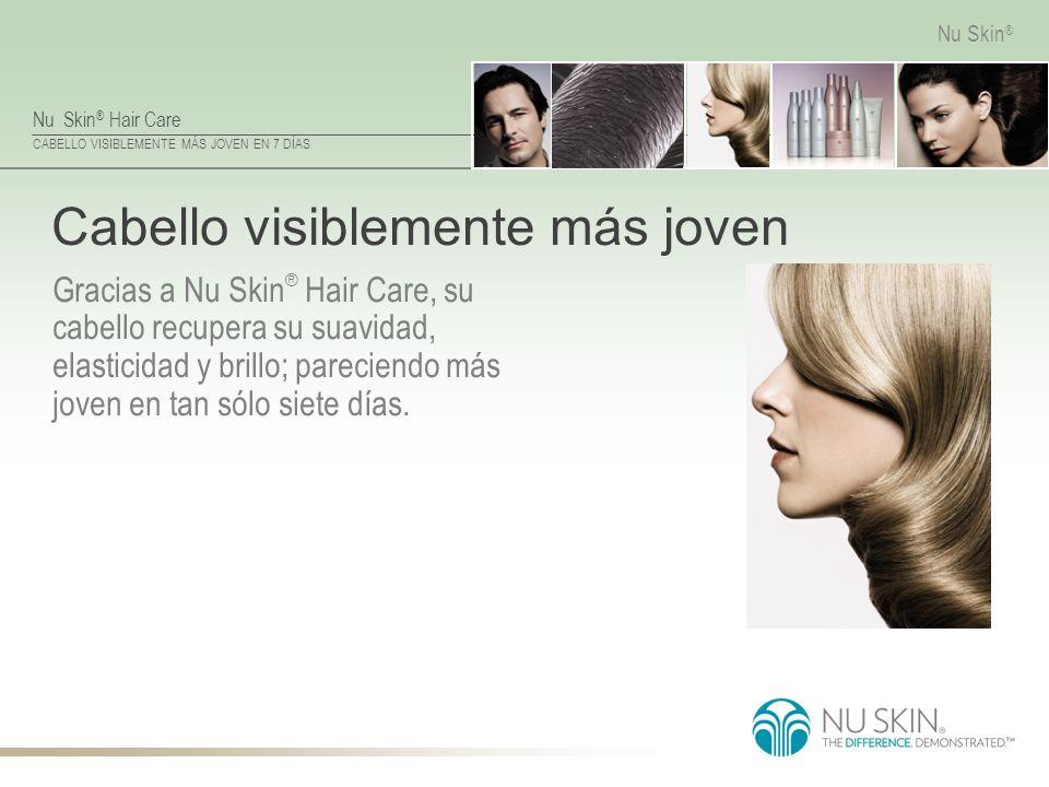 CABELLO VISIBLEMENTE MÁS JOVEN EN 7 DÍAS Nu Skin ® Cabello visiblemente más joven Gracias a Nu Skin ® Hair Care, su cabello recupera su suavidad, elas