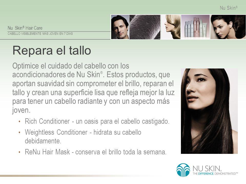 Nu Skin ® Hair Care CABELLO VISIBLEMENTE MÁS JOVEN EN 7 DÍAS Nu Skin ® Repara el tallo Optimice el cuidado del cabello con los acondicionadores de Nu