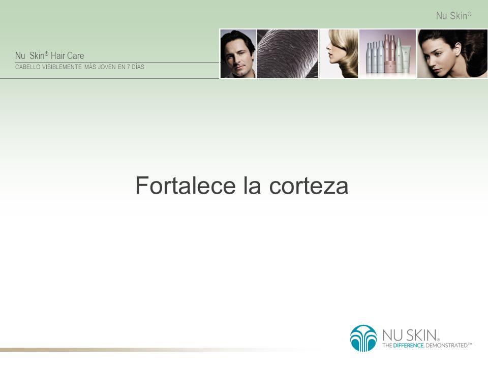 Nu Skin ® Hair Care CABELLO VISIBLEMENTE MÁS JOVEN EN 7 DÍAS Nu Skin ® Fortalece la corteza
