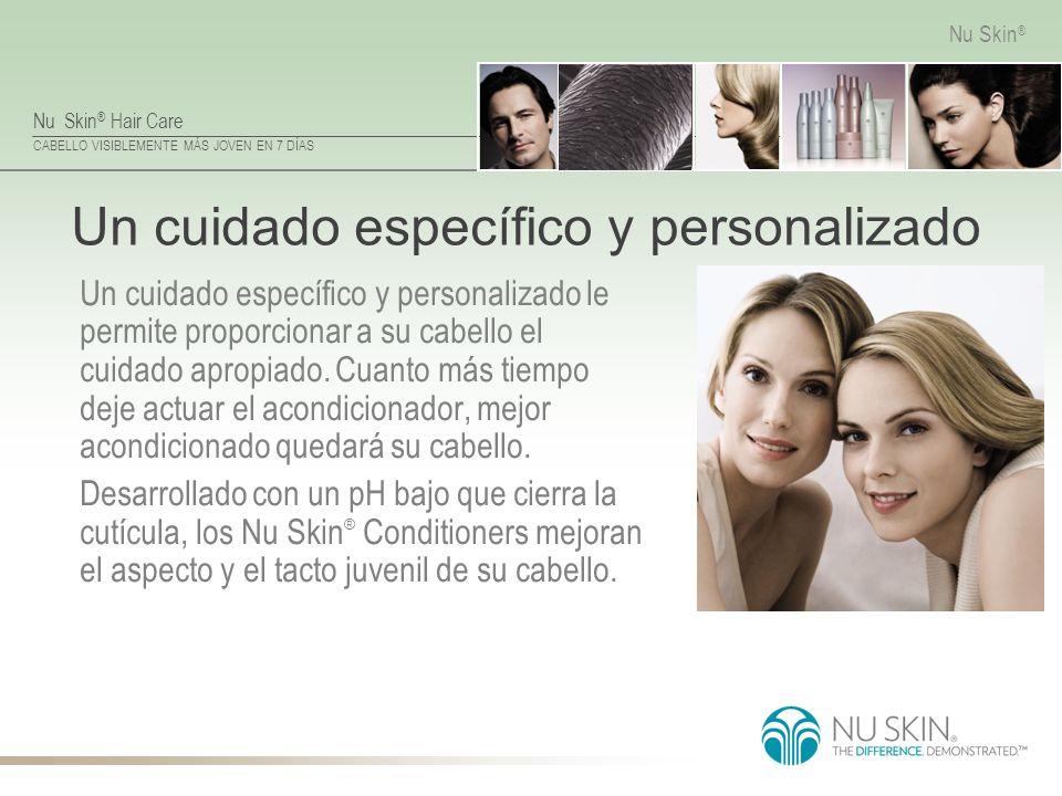 Nu Skin ® Hair Care CABELLO VISIBLEMENTE MÁS JOVEN EN 7 DÍAS Nu Skin ® Un cuidado específico y personalizado Un cuidado específico y personalizado le