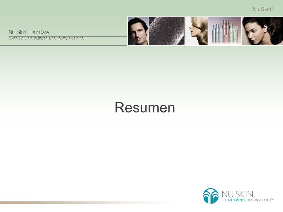 Nu Skin ® Hair Care CABELLO VISIBLEMENTE MÁS JOVEN EN 7 DÍAS Nu Skin ® Resumen