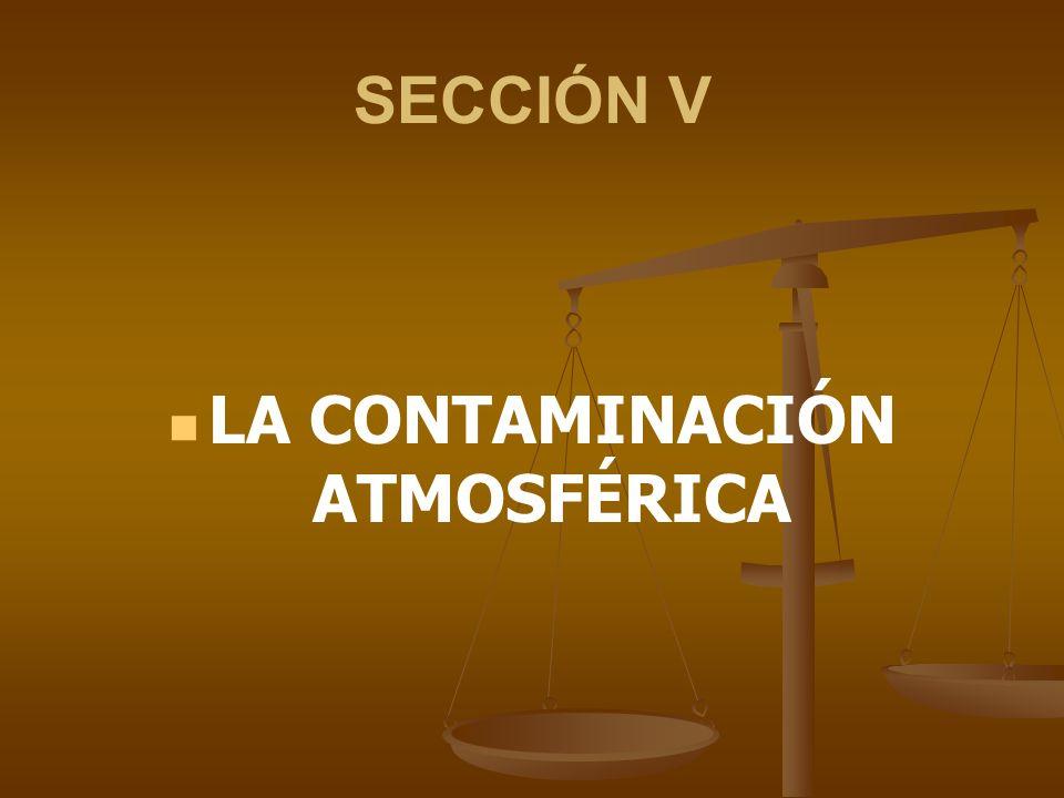 SECCIÓN V LA CONTAMINACIÓN ATMOSFÉRICA