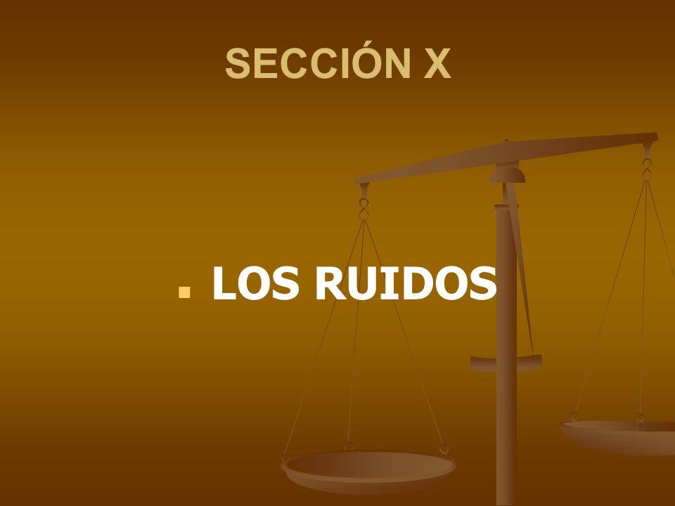 SECCIÓN X LOS RUIDOS