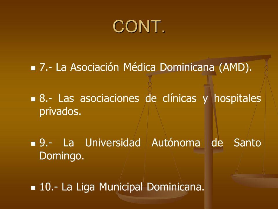 CONT.7.- La Asociación Médica Dominicana (AMD).
