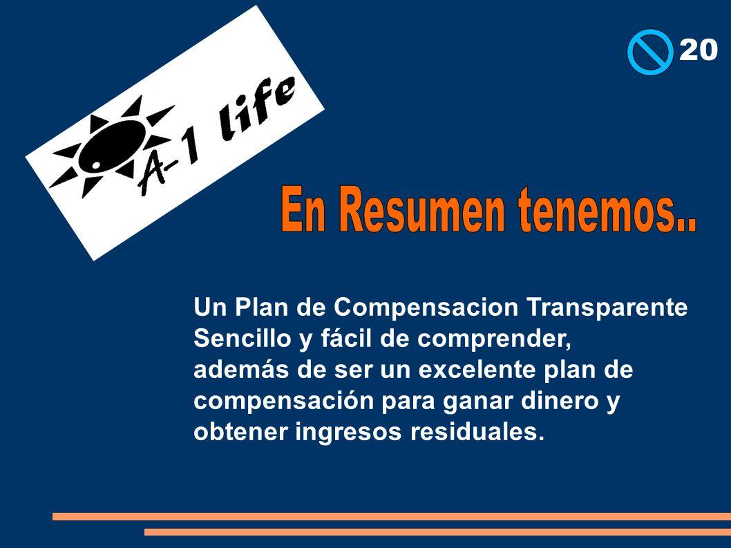Un Plan de Compensacion Transparente Sencillo y fácil de comprender, además de ser un excelente plan de compensación para ganar dinero y obtener ingre
