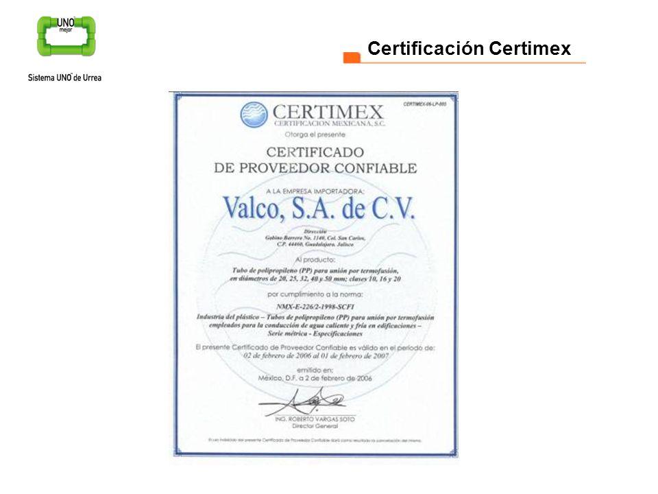 Certificación Certimex