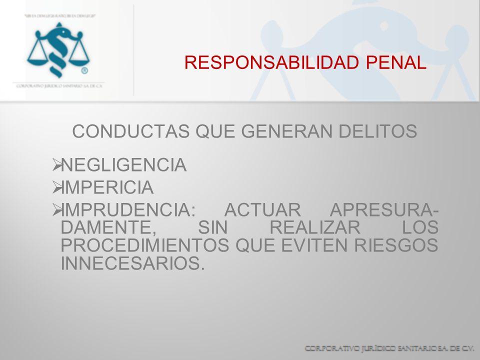 RESPONSABILIDAD PENAL SANCIONES PENA PRIVATIVA DE LA LIBERTAD MULTA REPARACIÓN DEL DAÑO SUSPENSIÓN DEL DERECHO A EJERCER LA PROFESIÓN.