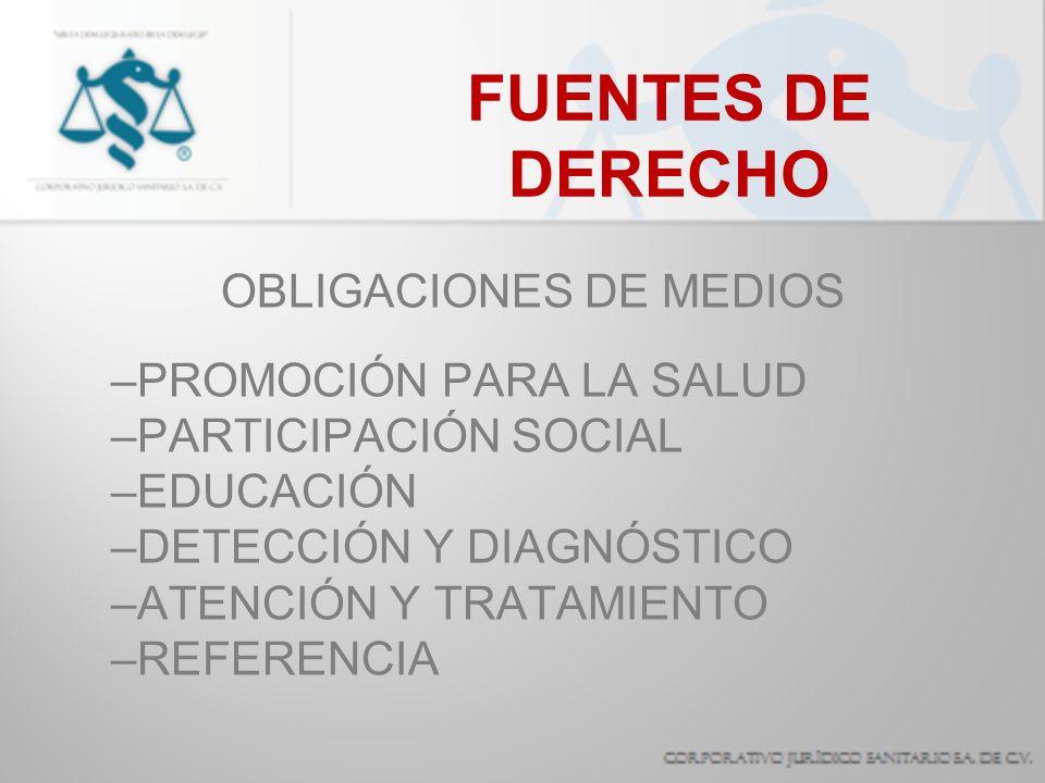 FUENTES DE DERECHO OBLIGACIONES DE SEGURIDAD –RECOMENDACIONES PREVENTIVAS –OBSERVAR LAS PRECAUCIONES ESTÁNDAR –NOTIFICACIÓN, ESTUDIO EPIDE- MIOLÓGICO Y SEGUIMIENTO DE CASOS.