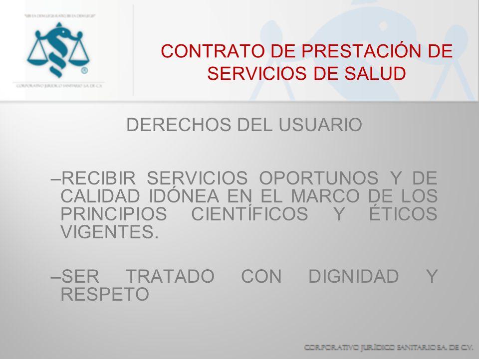 CONTRATO DE PRESTACIÓN DE SERVICIOS DE SALUD IMPERATIVO LEGAL OBLIGACIONES SEÑALADAS POR UNA NORMA JURÍDICA DE OBSERVANCIA OBLIGATORIA EN LA PROFESIÓN: –AVISO O NOTIFICACIÓN –PRESTACIÓN DE SERVICIOS DE URGENCIA