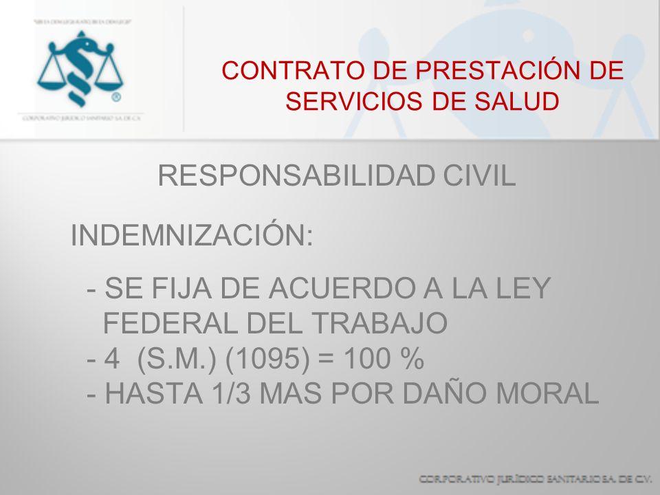 CONTRATO DE PRESTACIÓN DE SERVICIOS DE SALUD RESPONSABILIDAD CIVIL OBLIGACIÓN DE REPARACIÓN - PERSONAS MORALES - INSTITUCIONES PRIVADAS - EL ESTADO EN FORMA SOLIDARIA O SUBSIDIARIA - PERSONAS FÍSICAS