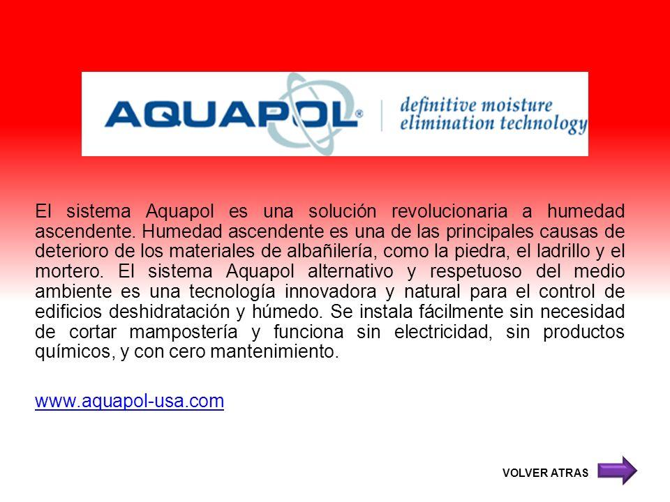 El sistema Aquapol es una solución revolucionaria a humedad ascendente. Humedad ascendente es una de las principales causas de deterioro de los materi