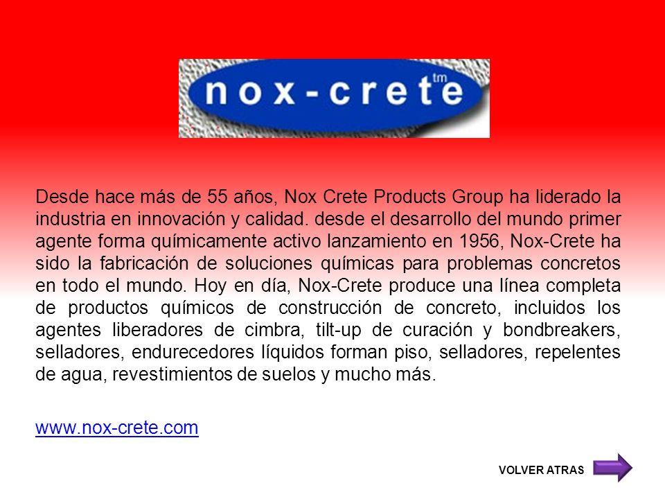 Desde hace más de 55 años, Nox Crete Products Group ha liderado la industria en innovación y calidad. desde el desarrollo del mundo primer agente form