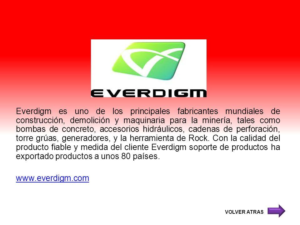 Everdigm es uno de los principales fabricantes mundiales de construcción, demolición y maquinaria para la minería, tales como bombas de concreto, acce
