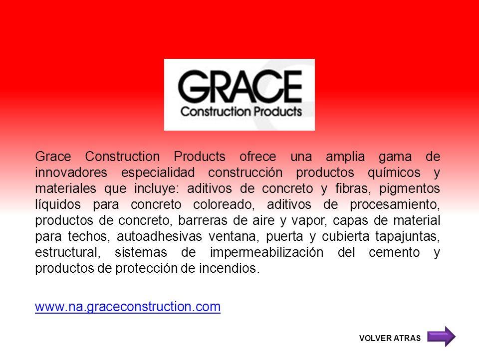 Grace Construction Products ofrece una amplia gama de innovadores especialidad construcción productos químicos y materiales que incluye: aditivos de c