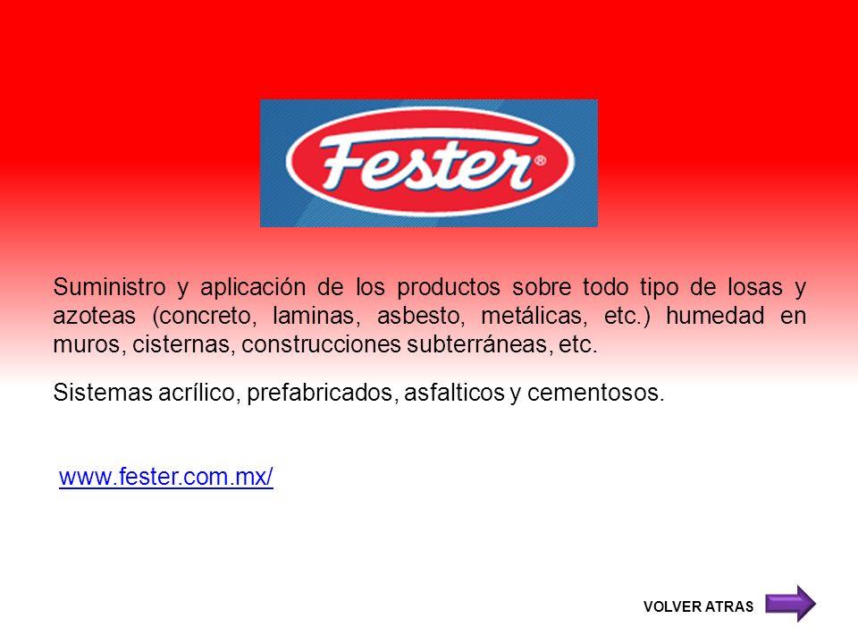 Suministro y aplicación de los productos sobre todo tipo de losas y azoteas (concreto, laminas, asbesto, metálicas, etc.) humedad en muros, cisternas,