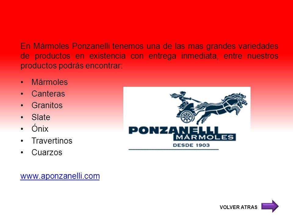 En Mármoles Ponzanelli tenemos una de las mas grandes variedades de productos en existencia con entrega inmediata, entre nuestros productos podrás enc