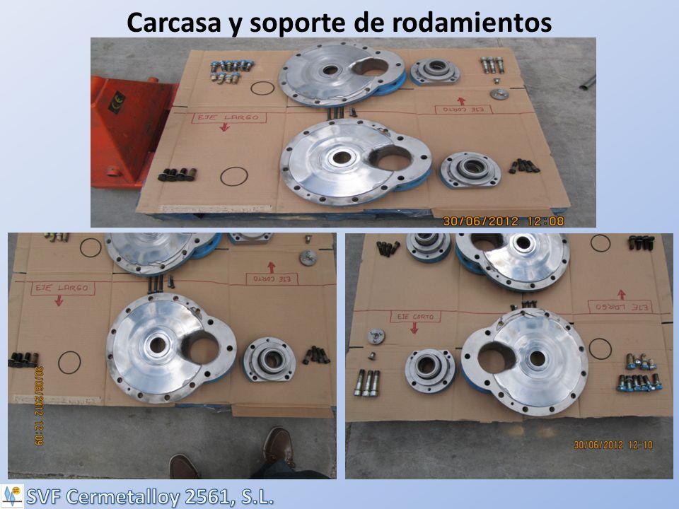 Carcasa y soporte de rodamientos