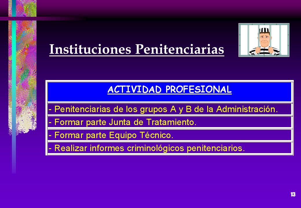 13 Instituciones Penitenciarias