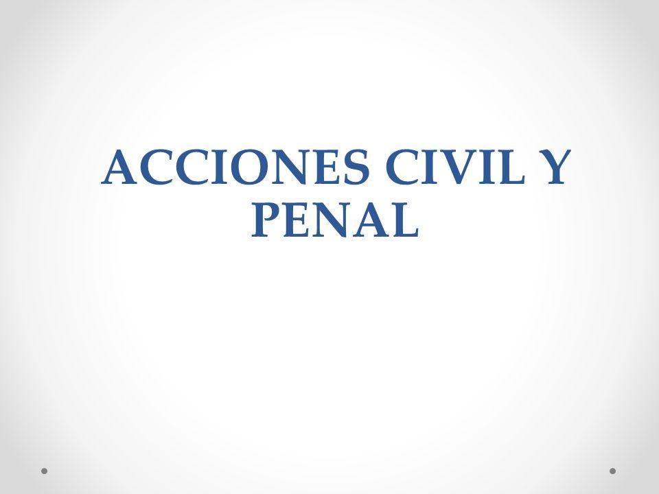 ACCIONES CIVIL Y PENAL