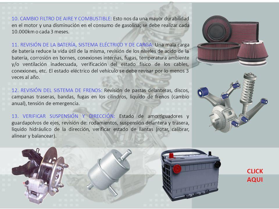 14.REVISAR SISTEMA DE ESCAPE (MOFLE): Que no tenga perforaciones, fugas, soportes dañados.