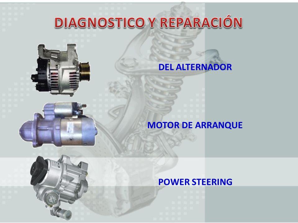 DEL ALTERNADOR MOTOR DE ARRANQUE POWER STEERING