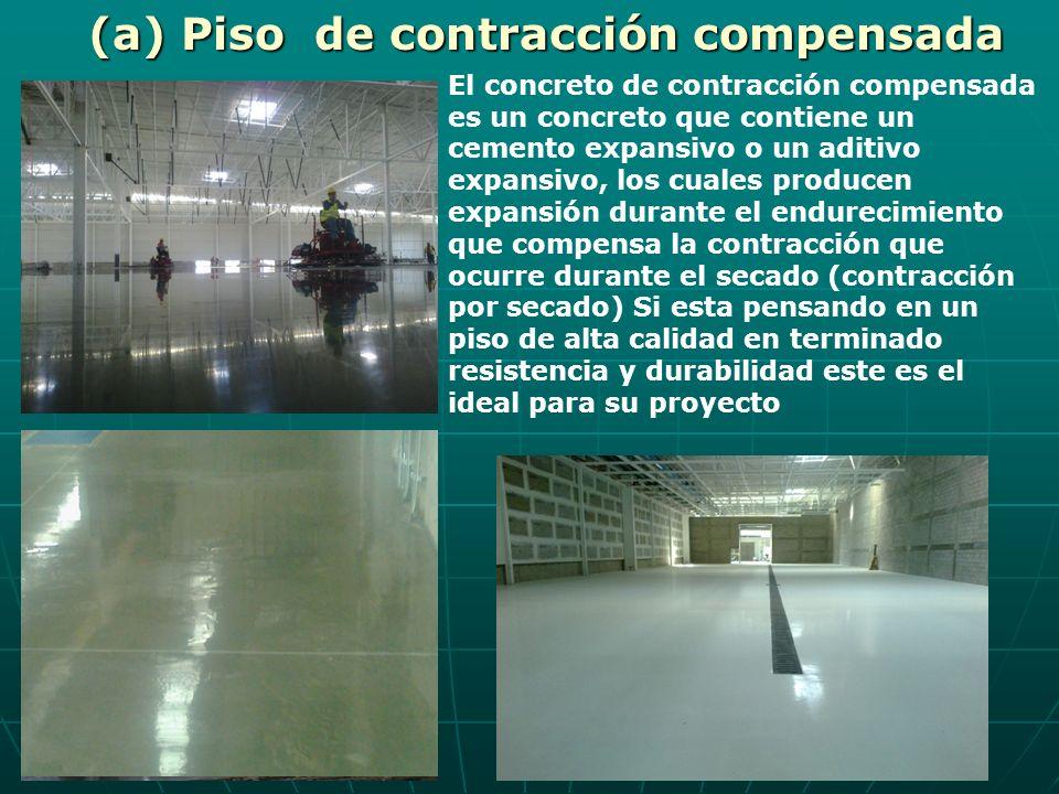 El concreto de contracción compensada es un concreto que contiene un cemento expansivo o un aditivo expansivo, los cuales producen expansión durante e
