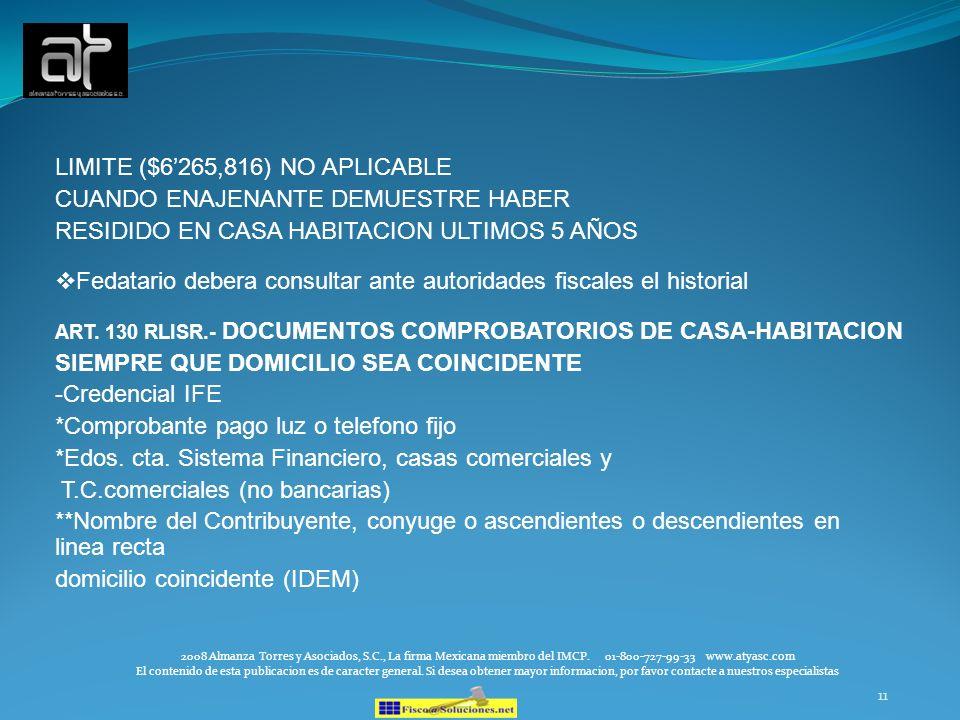 11 2008 Almanza Torres y Asociados, S.C., La firma Mexicana miembro del IMCP. 01-800-727-99-33 www.atyasc.com El contenido de esta publicacion es de c