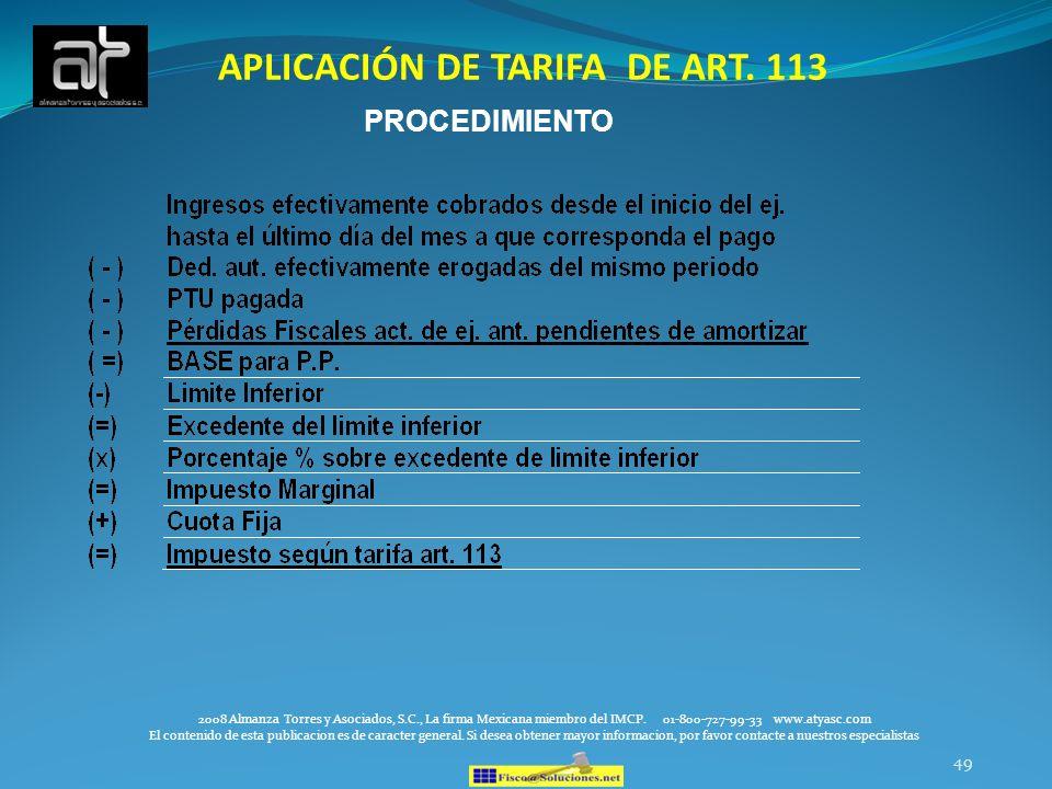 49 2008 Almanza Torres y Asociados, S.C., La firma Mexicana miembro del IMCP. 01-800-727-99-33 www.atyasc.com El contenido de esta publicacion es de c
