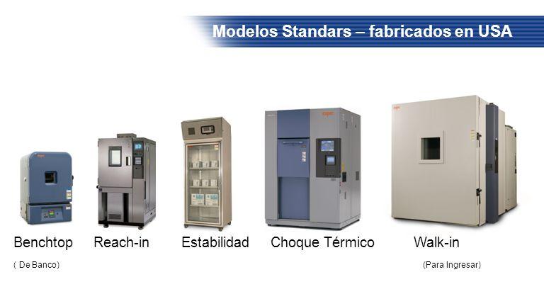 Modelos Standars – fabricados en USA Benchtop Reach-in Estabilidad Choque Térmico Walk-in ( De Banco) (Para Ingresar)