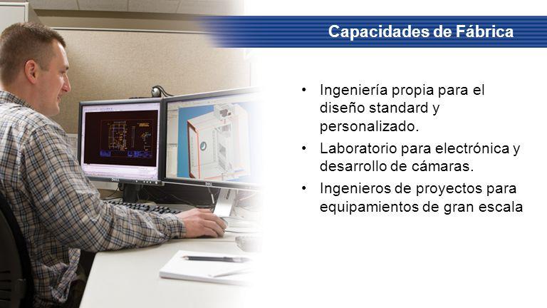 Ingeniería propia para el diseño standard y personalizado. Laboratorio para electrónica y desarrollo de cámaras. Ingenieros de proyectos para equipami