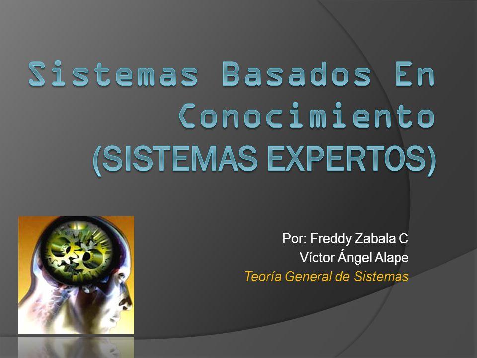 Por: Freddy Zabala C Víctor Ángel Alape Teoría General de Sistemas