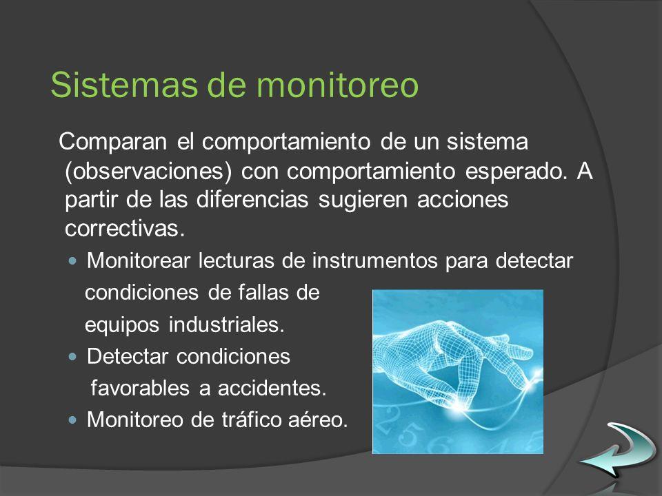Sistemas de monitoreo Comparan el comportamiento de un sistema (observaciones) con comportamiento esperado.