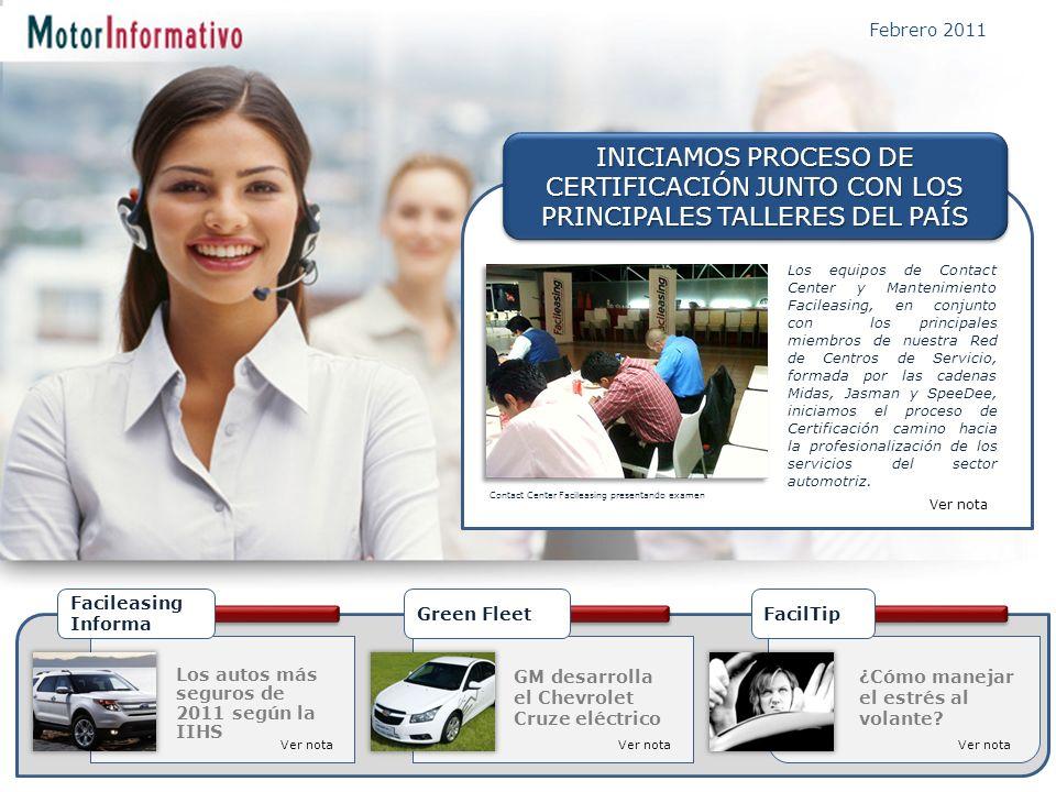 INICIAMOS PROCESO DE CERTIFICACIÓN JUNTO CON LOS PRINCIPALES TALLERES DEL PAÍS Febrero 2011 ¿Cómo manejar el estrés al volante.