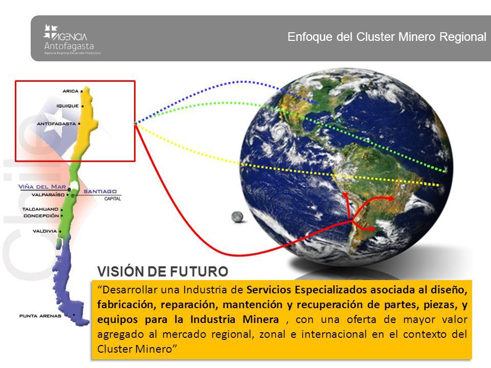 VISIÓN DE FUTURO Desarrollar una Industria de Servicios Especializados asociada al diseño, fabricación, reparación, mantención y recuperación de parte