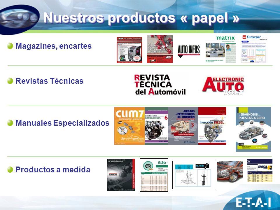 Nuestros productos « papel » Magazines, encartes Revistas Técnicas Manuales Especializados Productos a medida