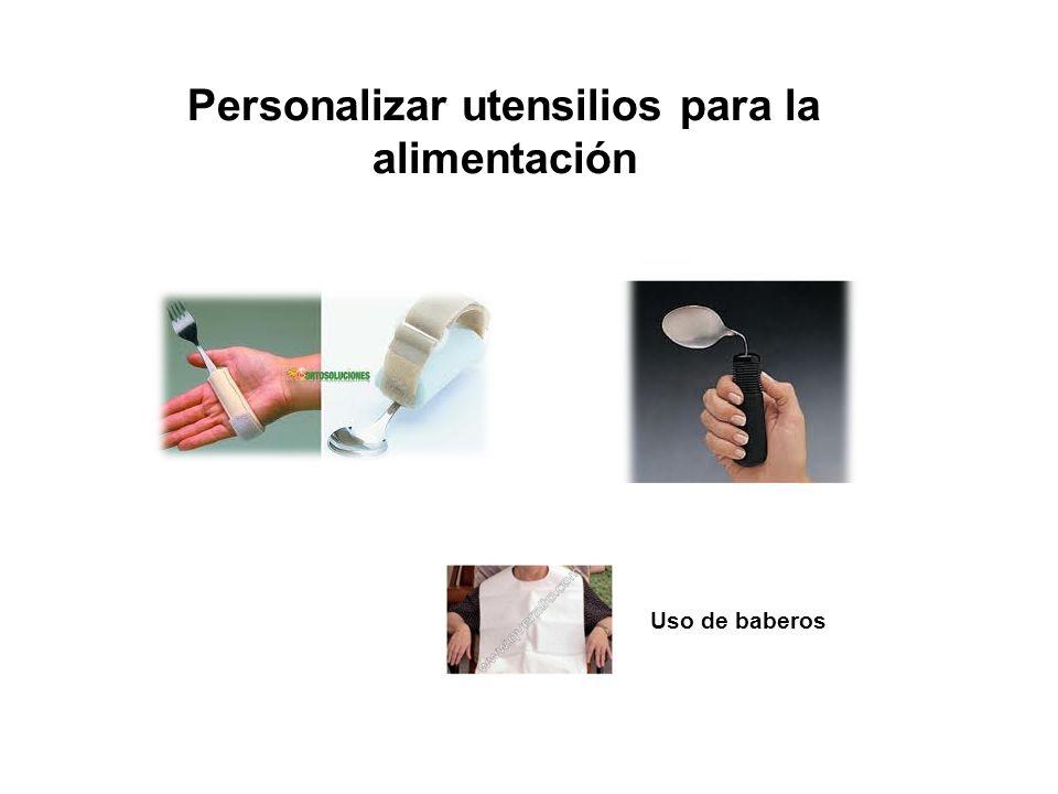 Uso de baberos Personalizar utensilios para la alimentación