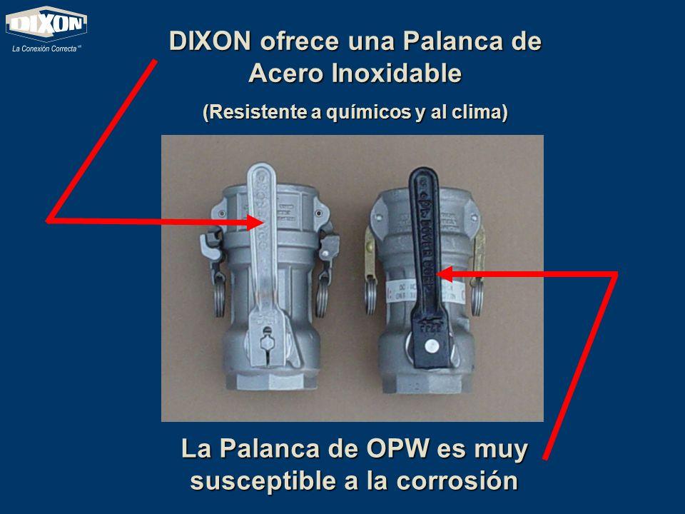 Diseños de los accesorios de las palancas OPW El orificio circular de la palanca lo hace propenso a que se deforme.