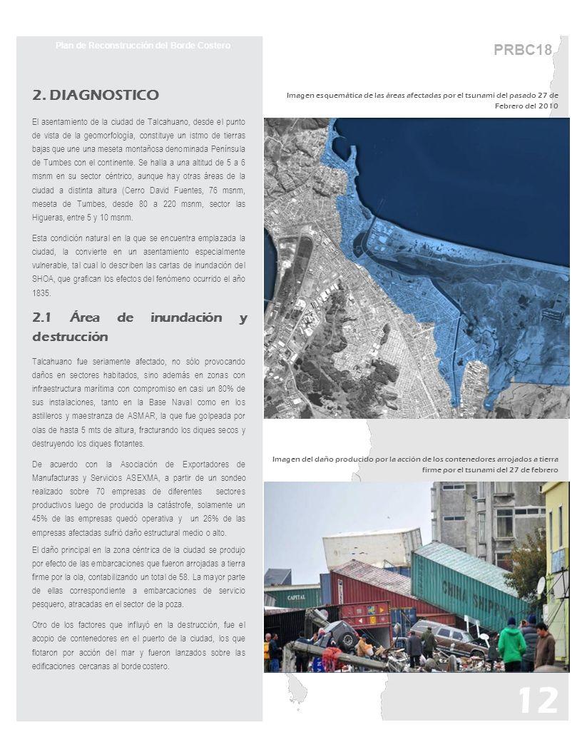 PRBC18 Plan de Reconstrucción del Borde Costero 2. DIAGNOSTICO El asentamiento de la ciudad de Talcahuano, desde el punto de vista de la geomorfología