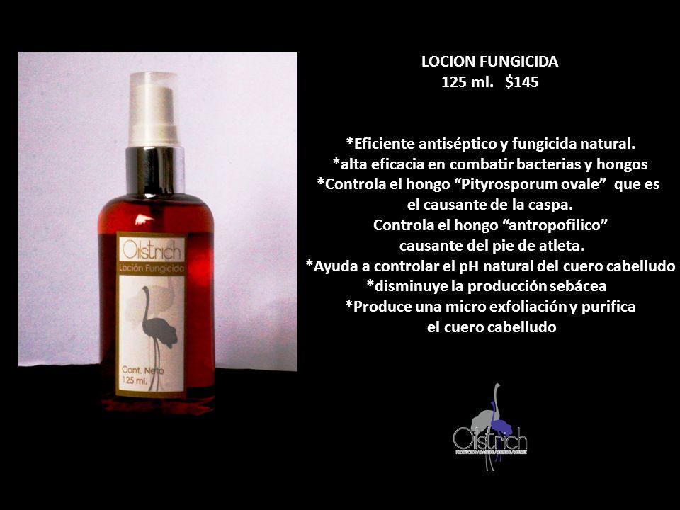 LOCION FUNGICIDA 125 ml. $145 *Eficiente antiséptico y fungicida natural. *alta eficacia en combatir bacterias y hongos *Controla el hongo Pityrosporu