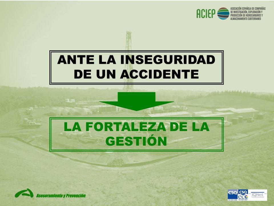 ANTE LA INSEGURIDAD DE UN ACCIDENTE LA FORTALEZA DE LA GESTIÓN