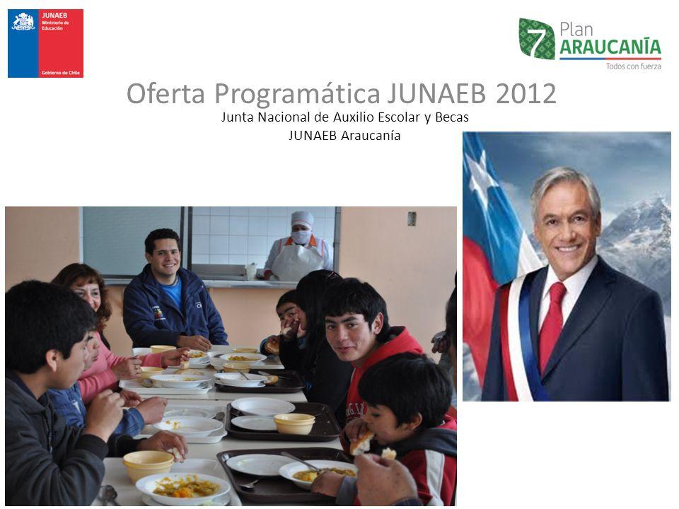 Junta Nacional de Auxilio Escolar y Becas JUNAEB Araucanía Oferta Programática JUNAEB 2012
