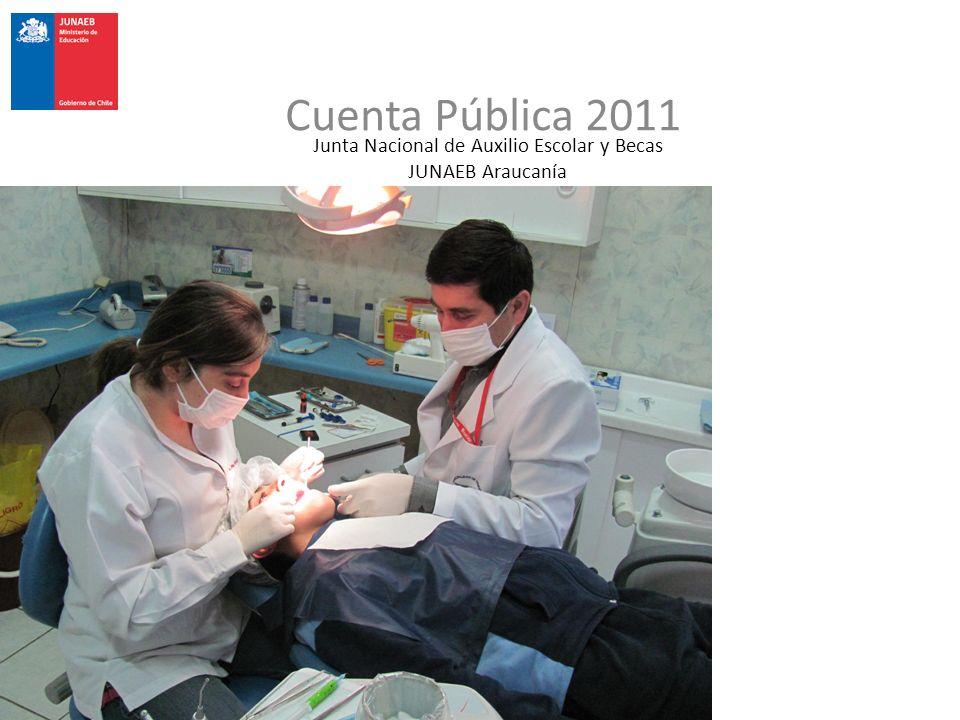 Junta Nacional de Auxilio Escolar y Becas JUNAEB Araucanía Cuenta Pública 2011
