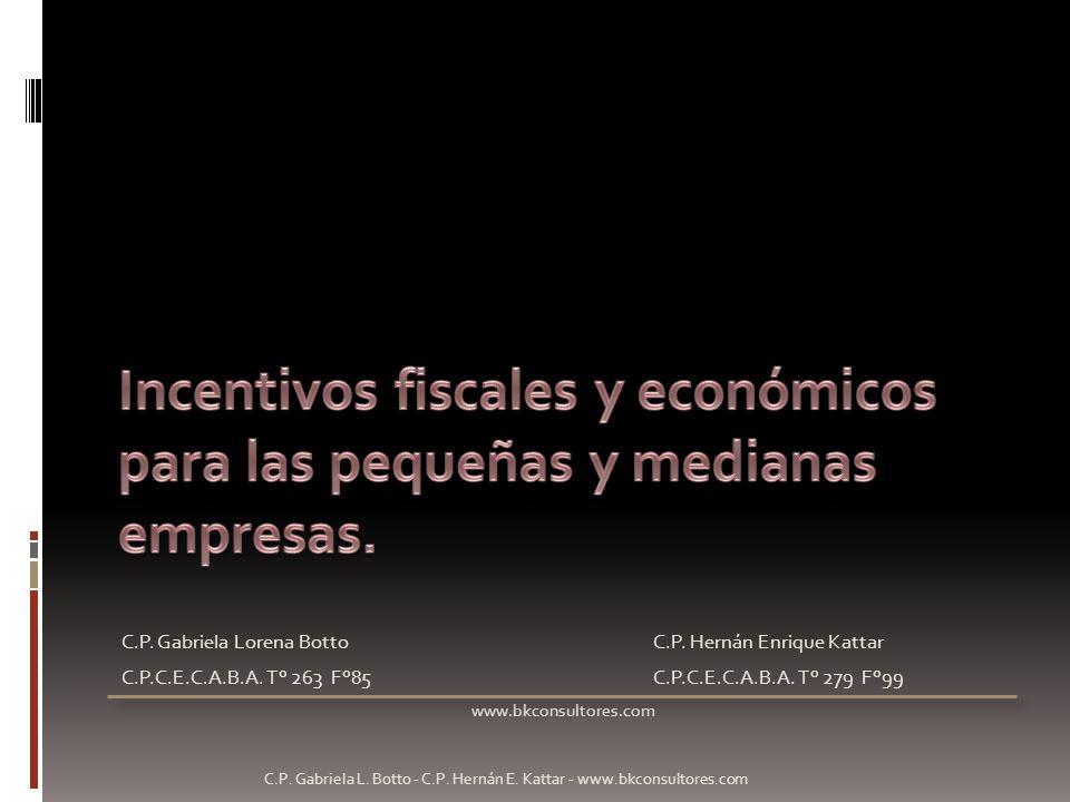 C.P. Gabriela Lorena BottoC.P. Hernán Enrique Kattar C.P.C.E.C.A.B.A. T° 263 F°85C.P.C.E.C.A.B.A. T° 279 F°99 www.bkconsultores.com C.P. Gabriela L. B