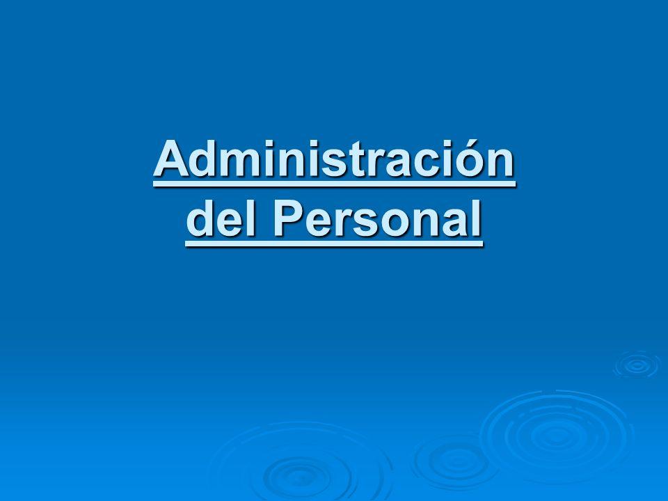 Administración del Personal