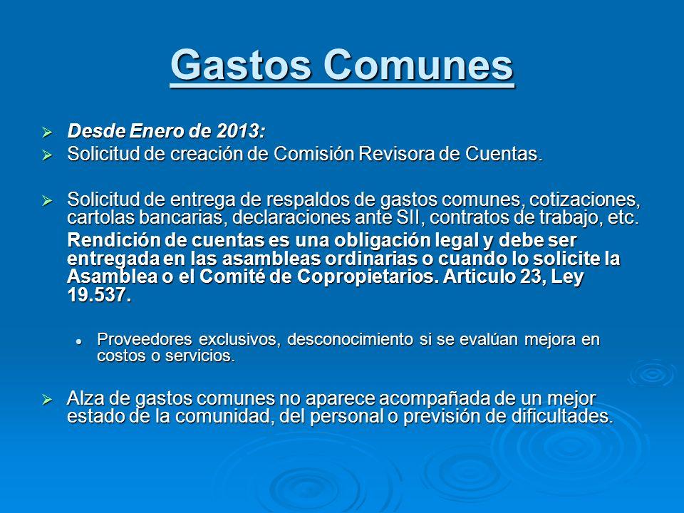 Desde Enero de 2013: Desde Enero de 2013: Solicitud de creación de Comisión Revisora de Cuentas. Solicitud de creación de Comisión Revisora de Cuentas