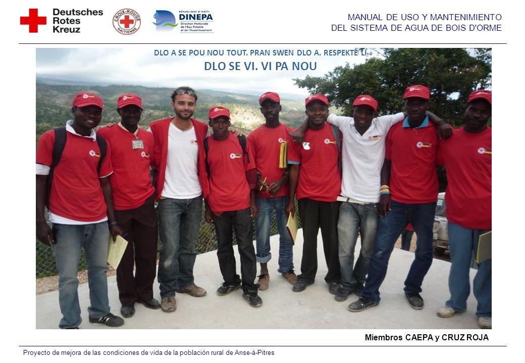 MANUAL DE USO Y MANTENIMIENTO DEL SISTEMA DE AGUA DE BOIS D'ORME Proyecto de mejora de las condiciones de vida de la población rural de Anse-à-Pitres