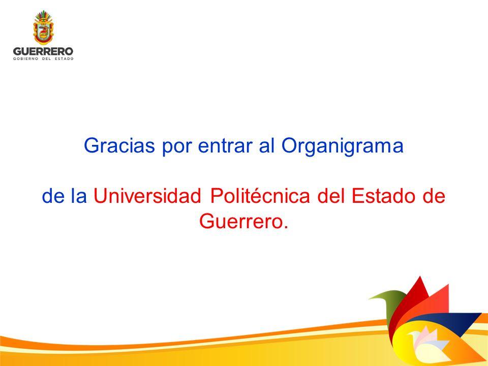 Gracias por entrar al Organigrama de la Universidad Politécnica del Estado de Guerrero.