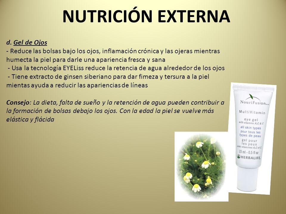 NUTRICIÓN EXTERNA d. Gel de Ojos - Reduce las bolsas bajo los ojos, inflamación crónica y las ojeras mientras humecta la piel para darle una aparienci